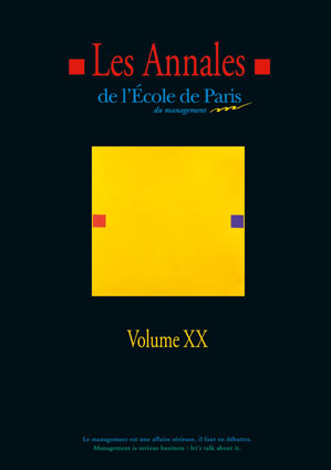 Couverture Les Annales de l'École de Paris du management - Volume 20